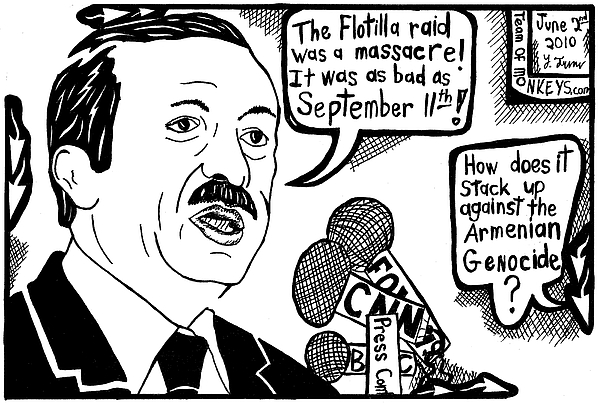 600x403 Political Cartoon On Erdogan Drawing By Yonatan Frimer Maze Artist