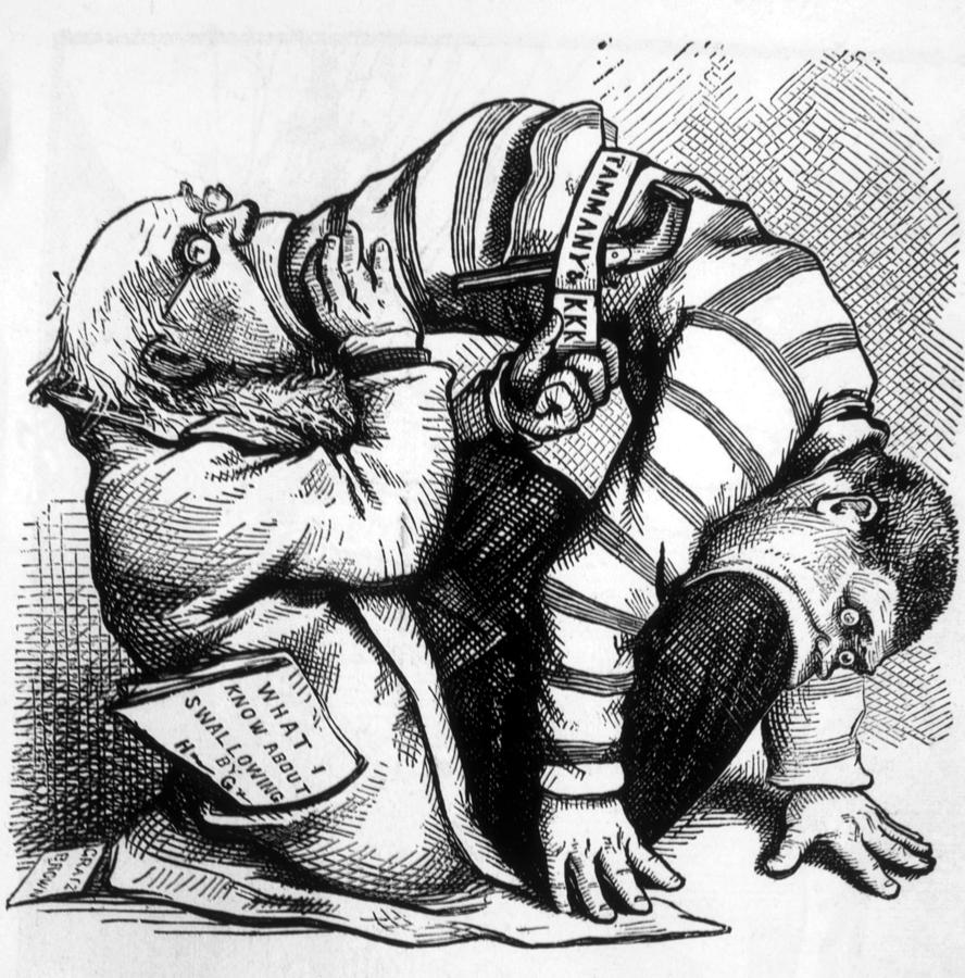 888x900 Thomas Nast Political Cartoon Depicting Photograph By Everett