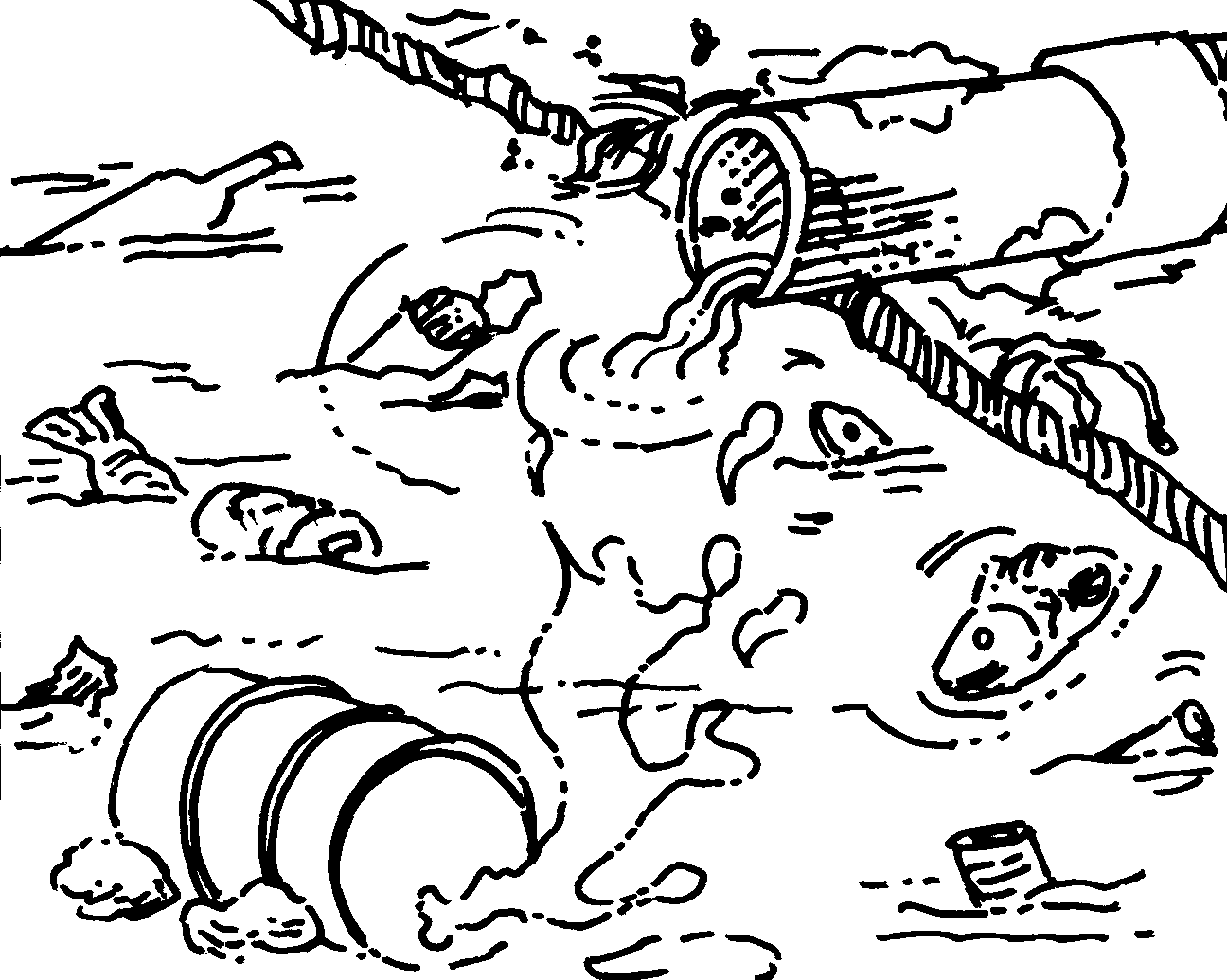 1296x1035 water pollution coloring pages