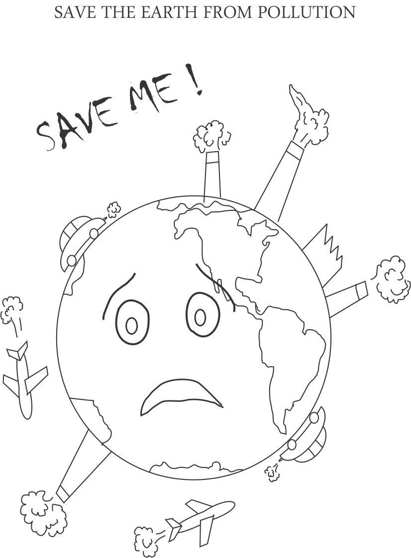 826x1122 Control Pollution Printable Coloring Page For Kids Earth Day