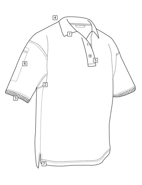 460x600 Men's Short Sleeve Classic 100% Cotton Polo Tru Spec