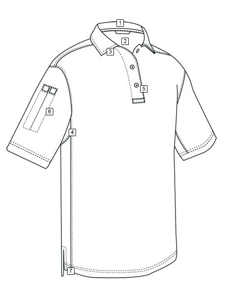 460x600 Men's Short Sleeve Performance Polo Tru Spec Tactically