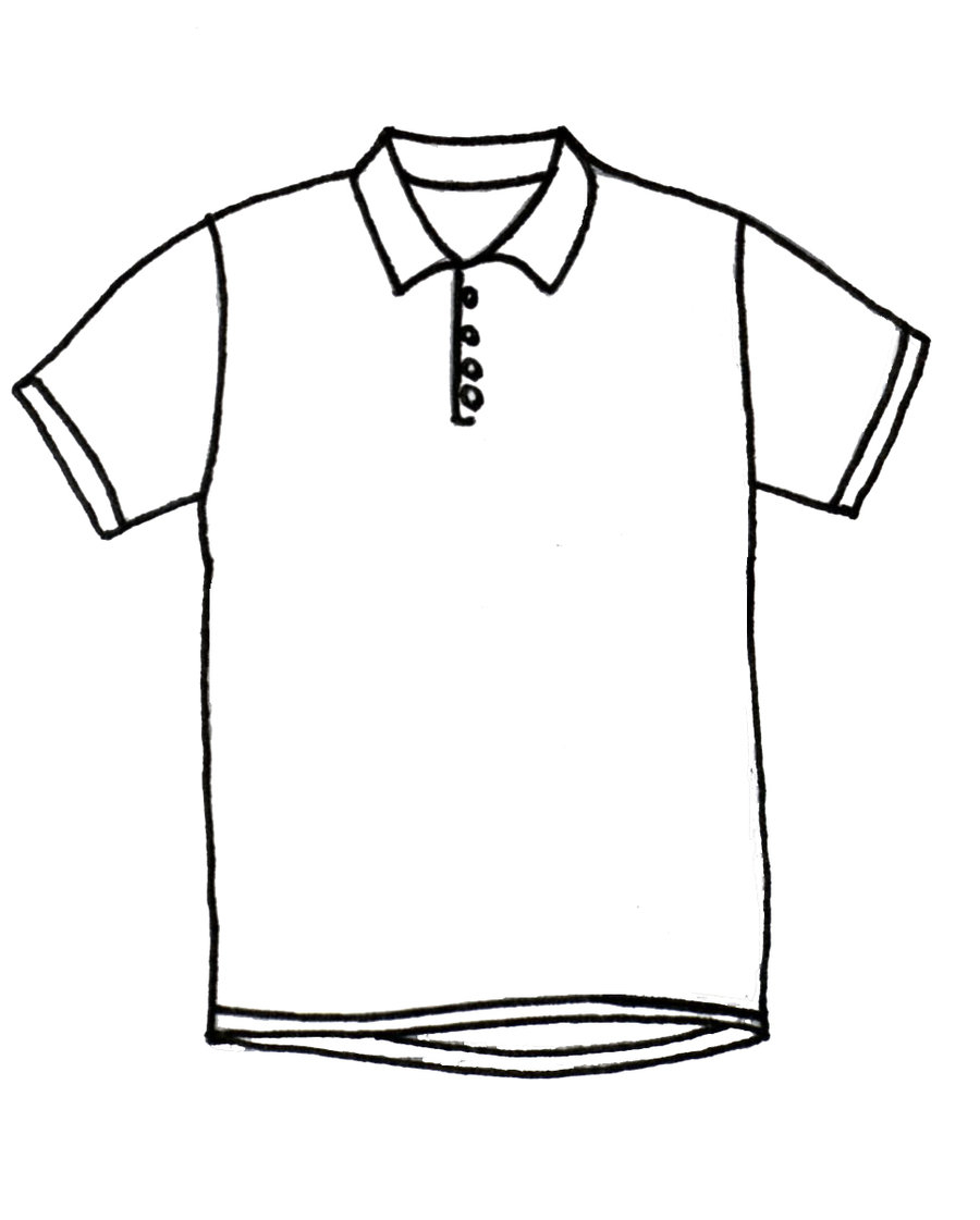 900x1121 Drawing Of A Shirt Picture Of A Polo Shirt