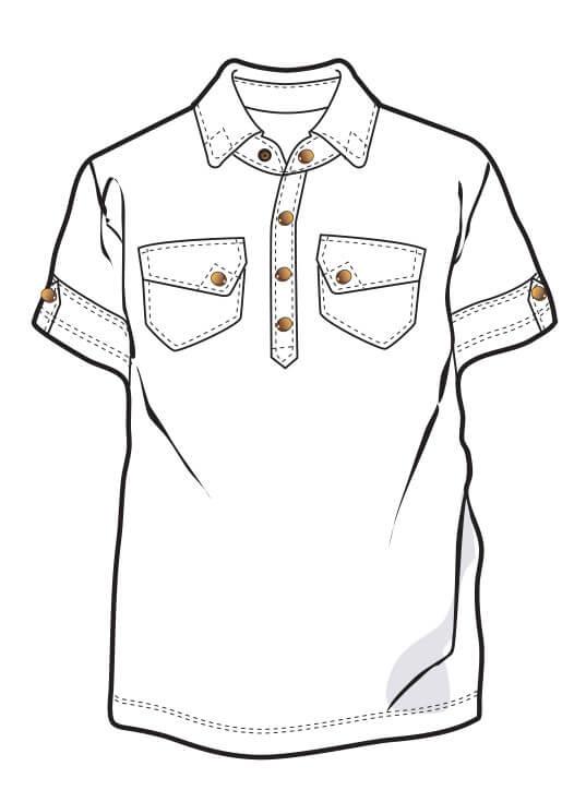 526x735 Enki Polo Men's Hemp Shirt Nomads Hemp Wear
