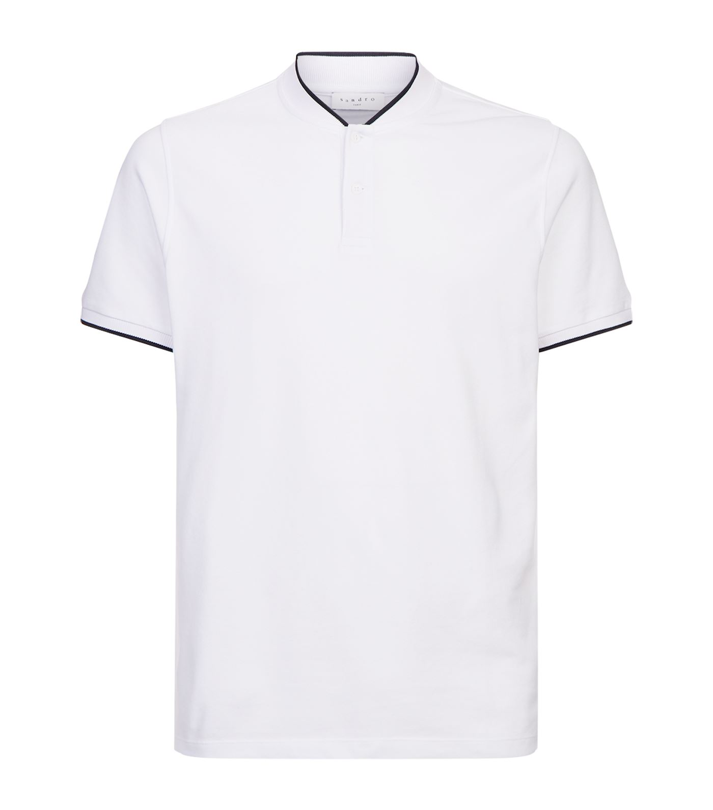 1400x1591 Sandro Stand Collar Polo Shirt