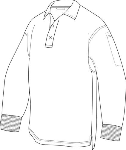 422x500 Tru Spec 24 7 Series Long Sleeve Polo Shirt, Tru Spec By Atlanco