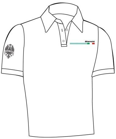 380x453 Bianchi Official Polo Shirt Blanco Bianchi Tiempo Libre