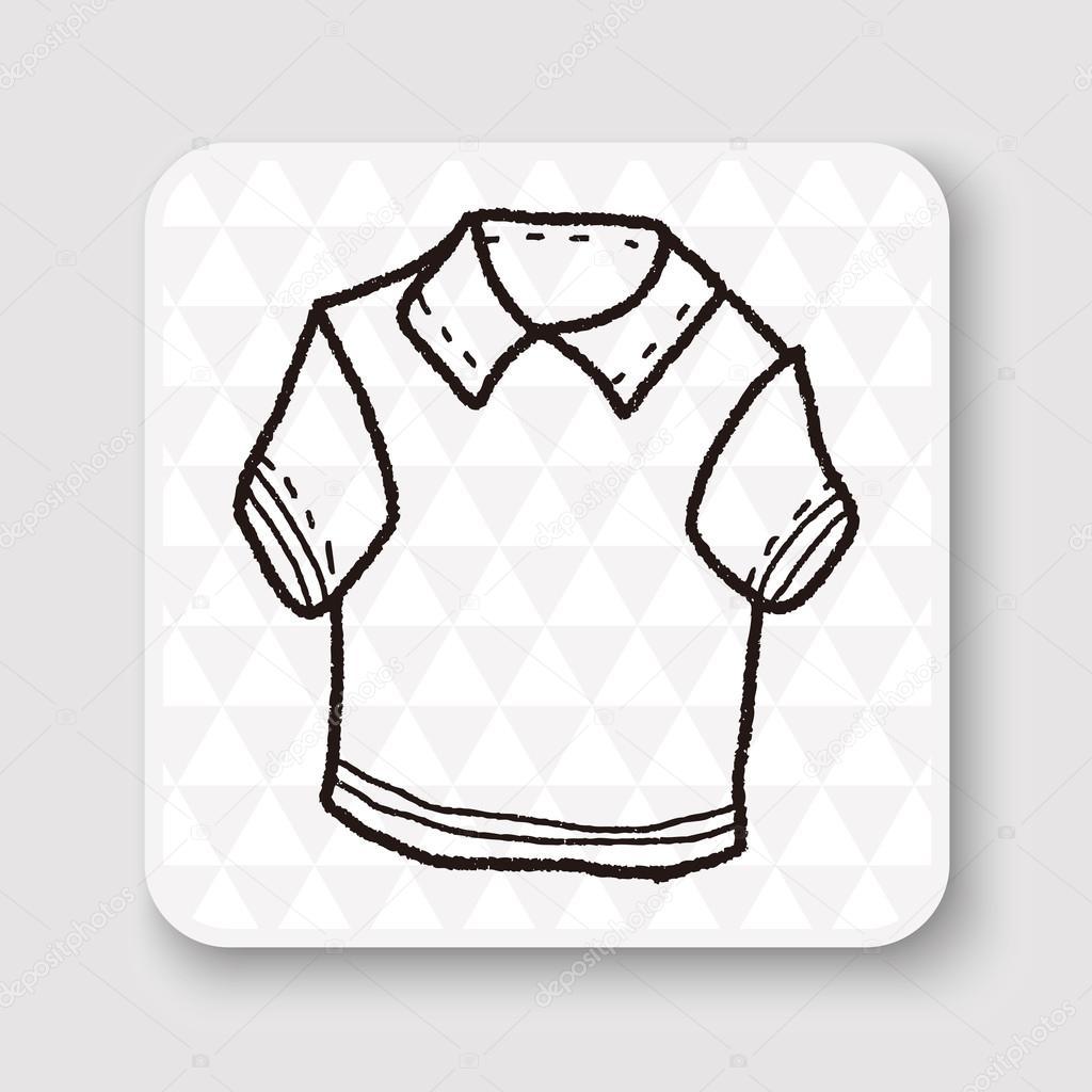 1024x1024 Polo Shirt Doodle Vector Illustration Stock Vector Hchjjl