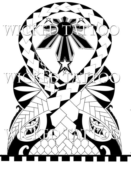 549x800 Filipino, Polynesian Tribal Tattoo
