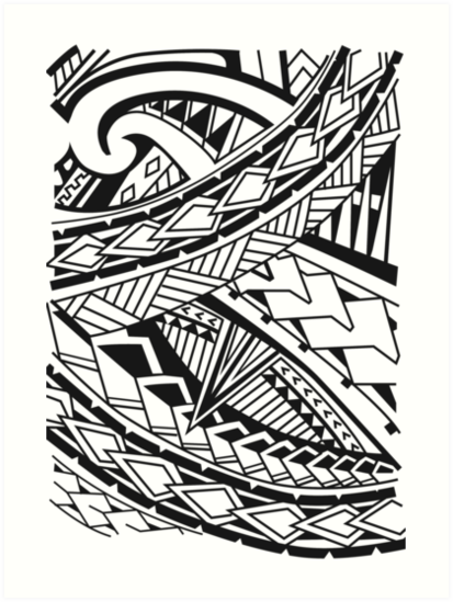 413x549 Polynesian Art Prints By Kowhaililly Redbubble