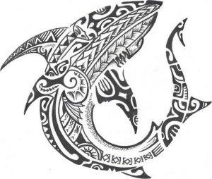 300x254 Polynesian Tribal Animal Tattoo Designs ~ Tattooic