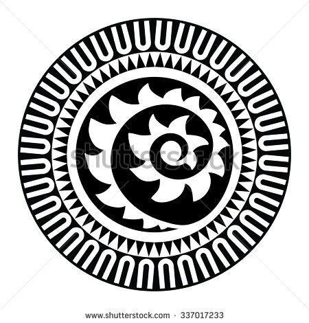 450x470 Sacred Geometry, Maori Tattoo, Sun, Shell, Black And White