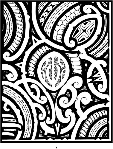 378x500 Tattoo A Coloring Book Of Polynesian Art By Anthony J. Tenorio