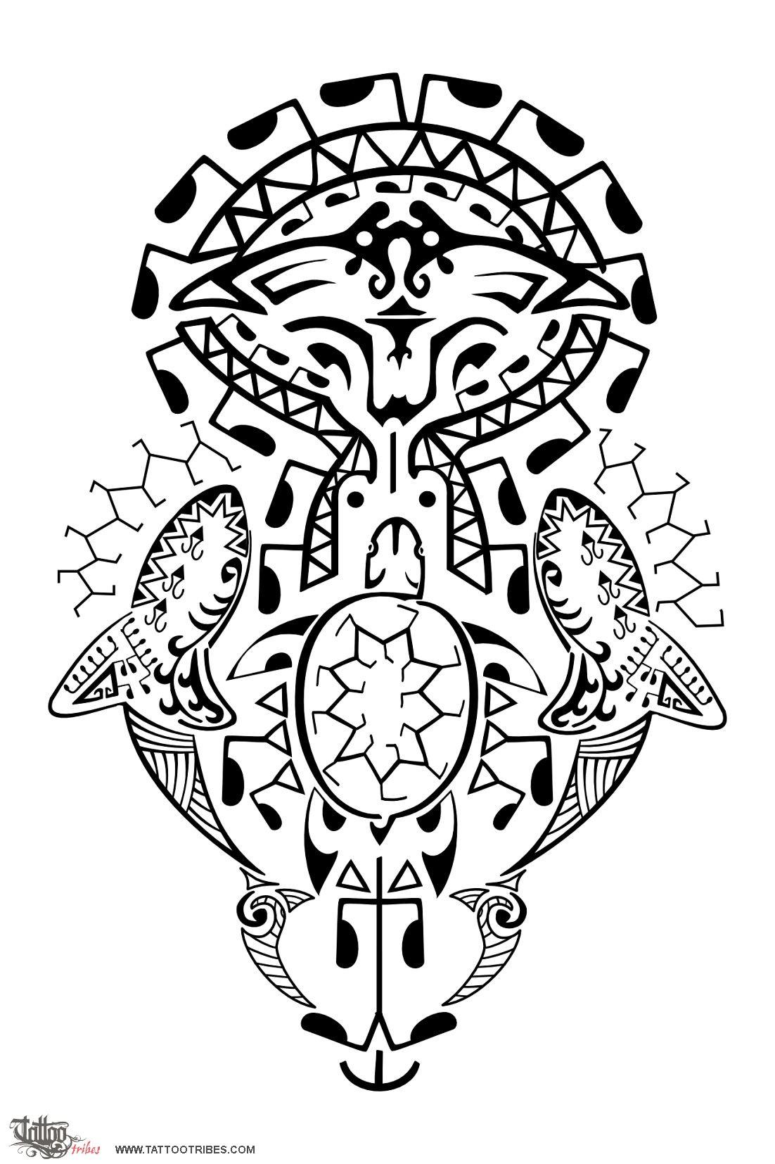 1102x1654 Tattoo Of Polynesian Ocean, Freedom, Voyage Tattoo