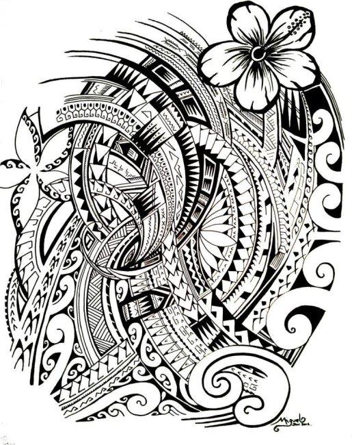 515x650 48 Coolest Polynesian Tattoo Designs