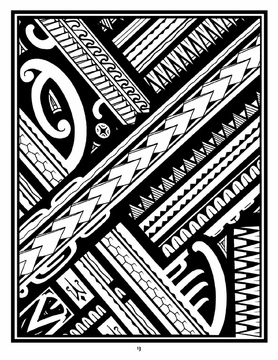 278x360 A Coloring Book Of Polynesian Art By Anthony J. Tenorio