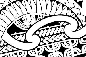 300x200 Chestpiece Tattoos In Marquesan, Polynesian And Maori Style
