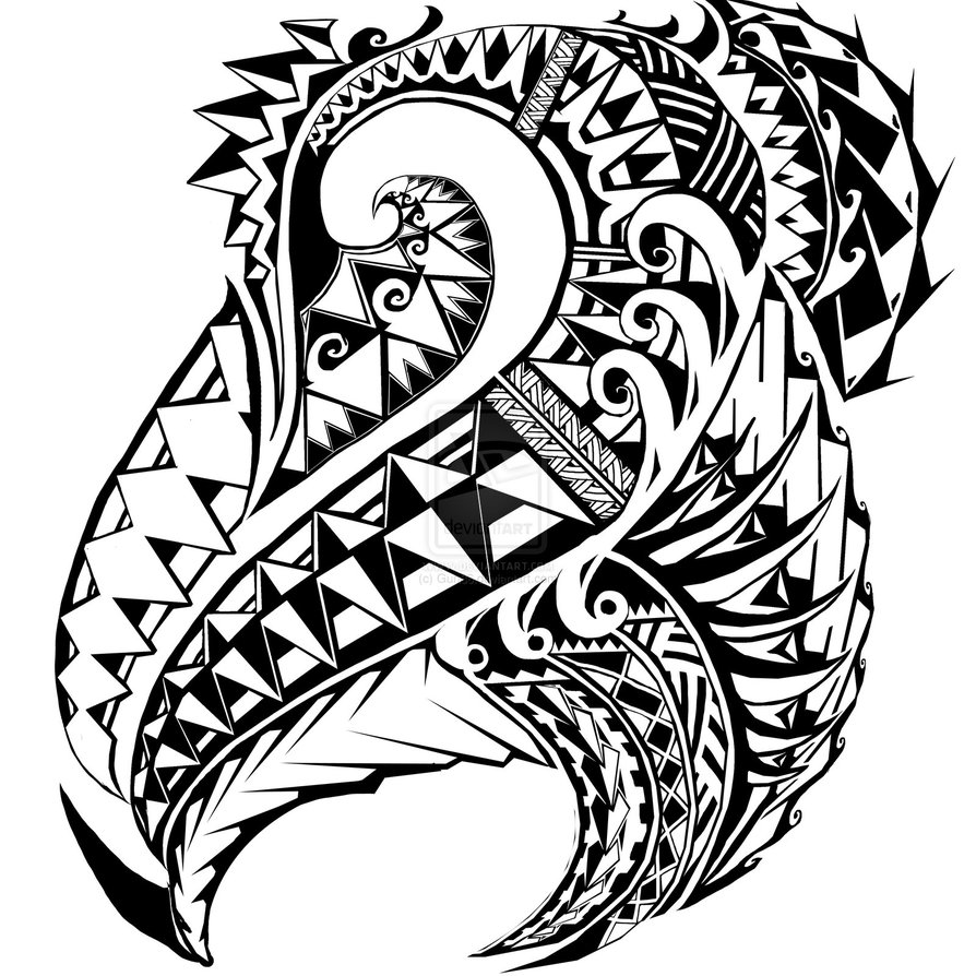 Polynesian Tribal Drawing