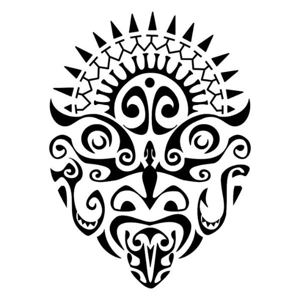 Polynesian Tribal Drawing At Getdrawings Com Free For Personal Use