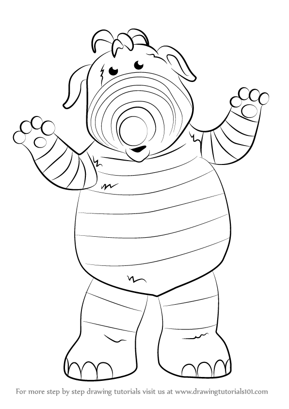 596x843 Learn How To Draw Baby Pom From Fimbles (Fimbles) Step By Step