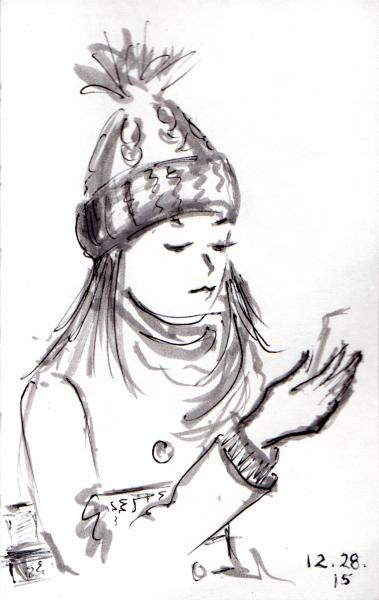 379x600 Quick Sketch Of Bouquet Of Roses Joana Miranda Studio