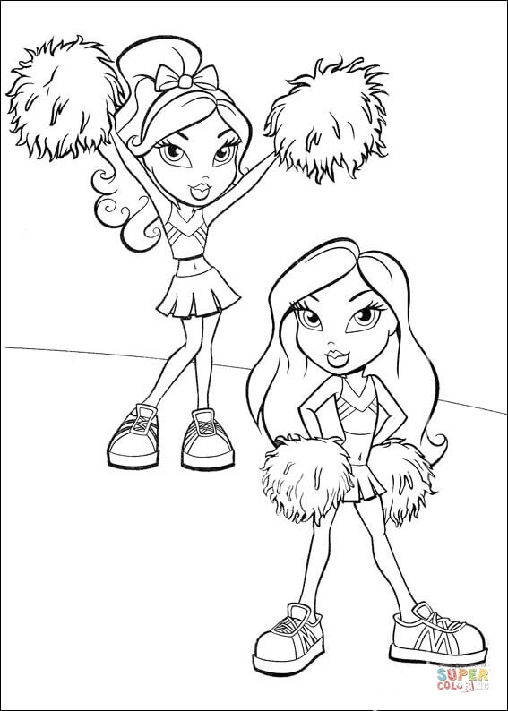 567x794 cheerleading pom poms coloring page free printable coloring pages