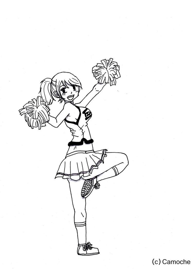 763x1048 Cheerleader Drawing