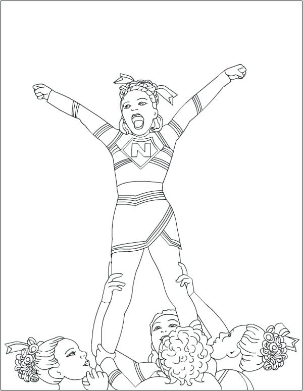 600x775 Cheerleading Pom Poms Coloring Pages Trend For Print With Best