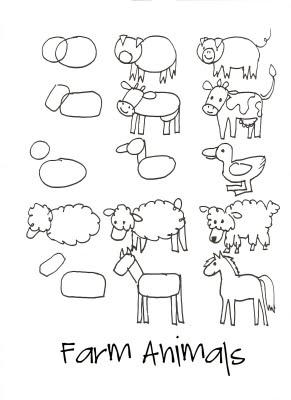 291x400 How To Draw Farm Animals How To Draw Farm Animals