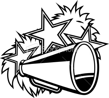 380x342 Cheer Clip Art Clip Art And Megaphone Black White