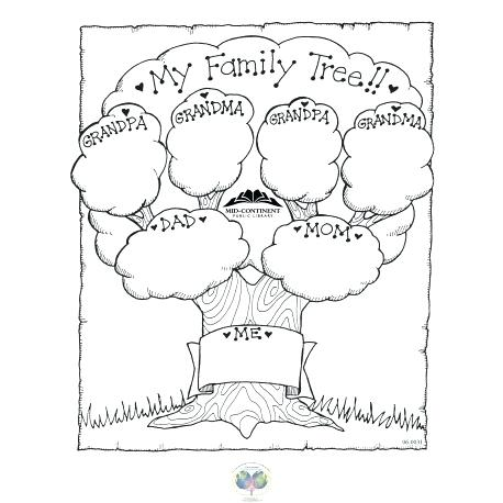 458x458 Family Tree Coloring Pages For Kids Blank Family Tree Coloring