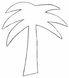 236x269 Palm Tree Pattern. Use The Printable Outline For Crafts, Creating
