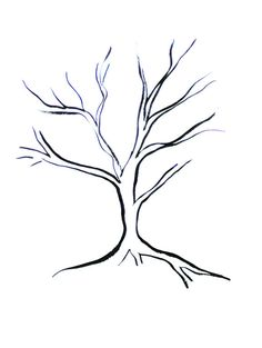 236x313 Printable Tree Without Leaves Coloring Page Trees