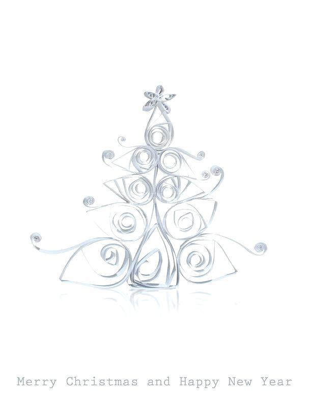 607x800 Christmas Tree Paper Cut Outs
