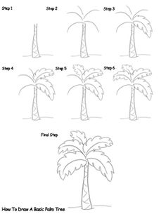 236x305 On Palm Draw And Doodles. How To Draw A Palm Tree Easy Step 2. Pin