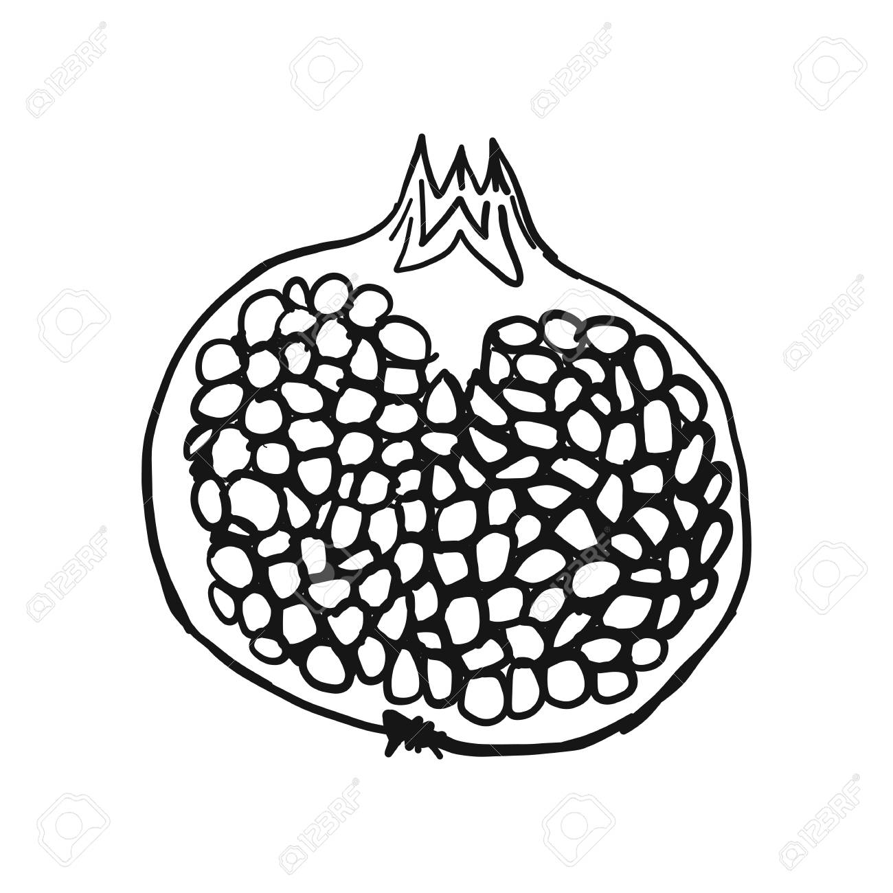 Newest For Easy Simple Pomegranate Drawing