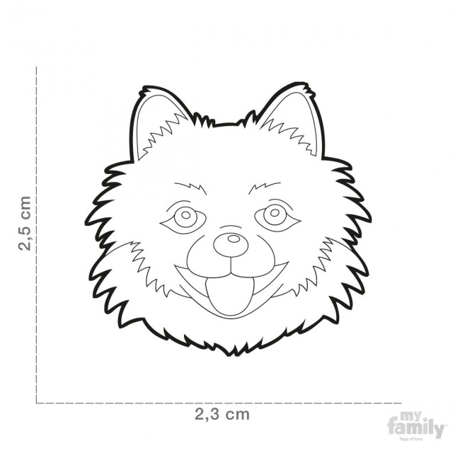 650x650 My Family Pomeranian Id Tag