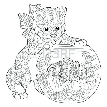 450x450 Pomeranian Coloring Pages As Coloring Page Of Kitten Playing