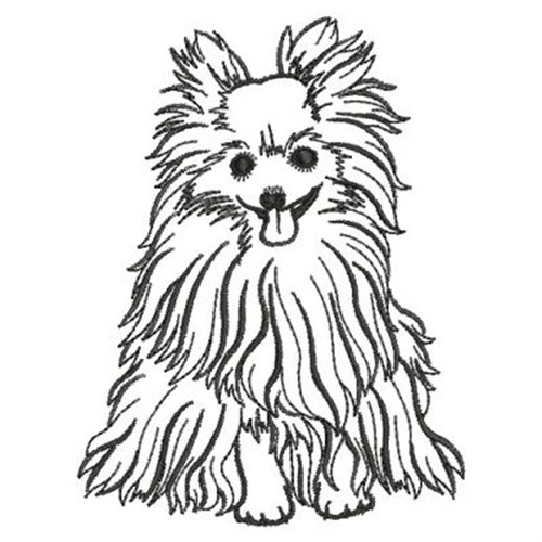 500x500 Pomeranian Outline Embroidery Designs, Machine Embroidery Designs