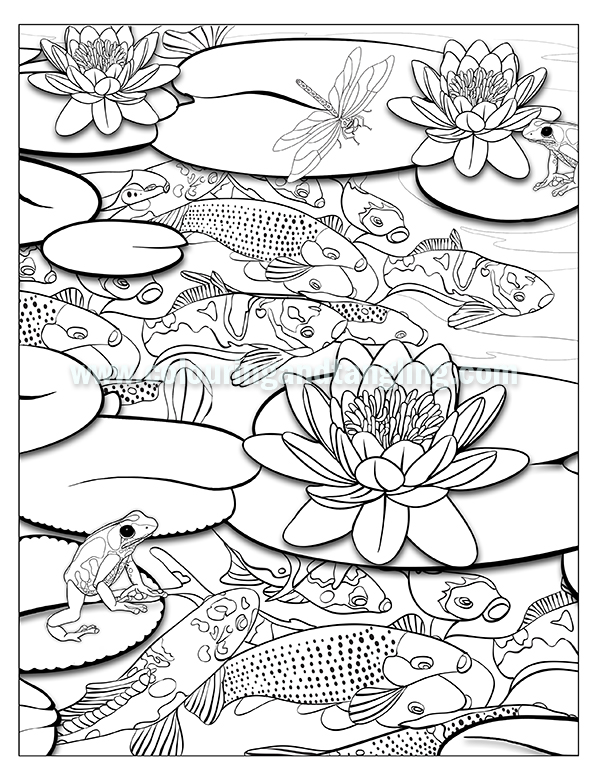 pond coloring pages | Pond Drawing at GetDrawings.com | Free for personal use ...