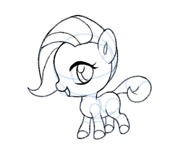 600x510 How To Draw A Chibi Pony
