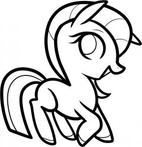292x302 How To Draw How To Draw A Pony For Kids