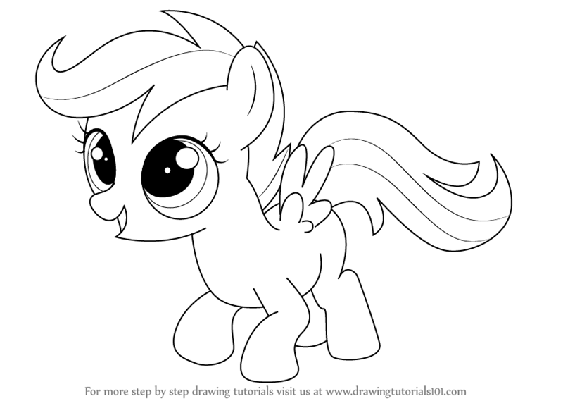800x569 Learn How To Draw Scootaloo From My Little Pony Friendship Is