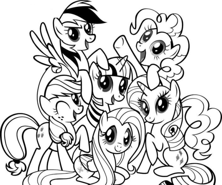706x588 Marvelous My Little Ponies Coloring Pages 18 In Coloring Pages