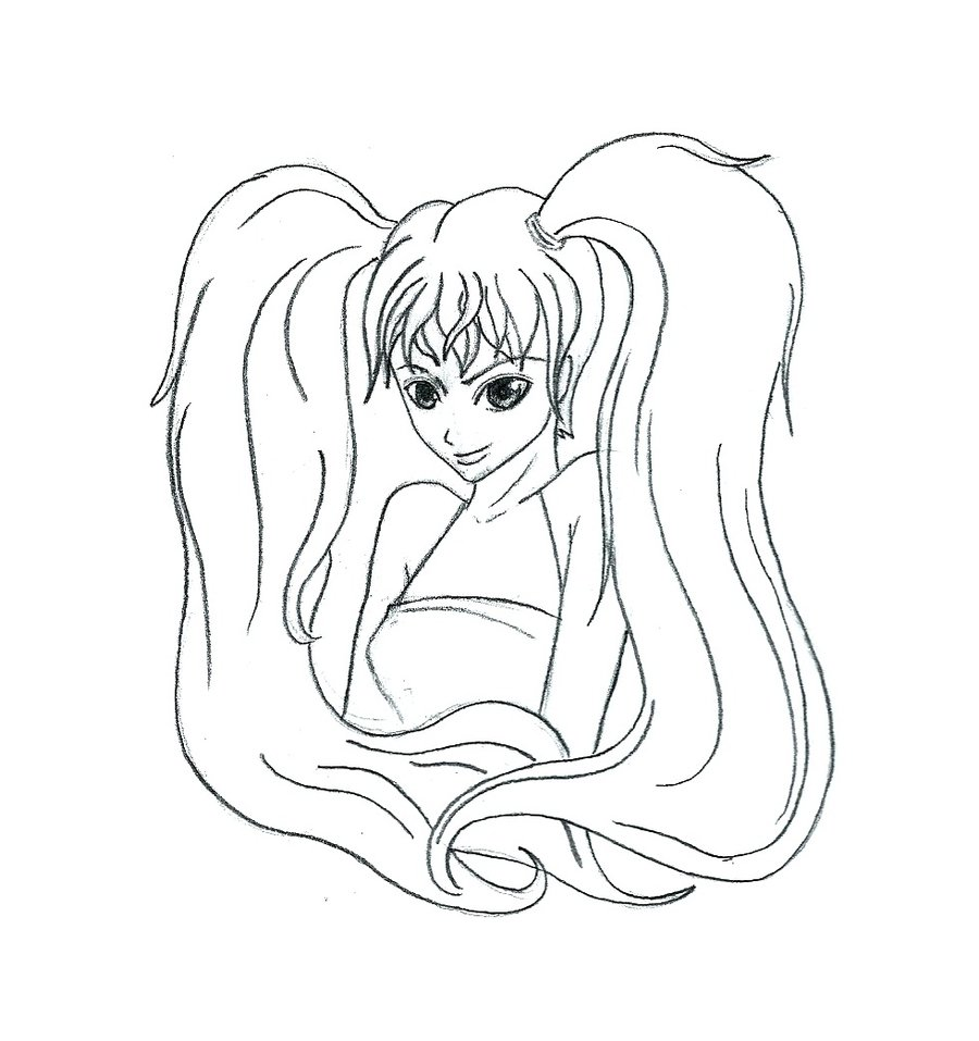 900x957 How To Draw A Ponytail Hair. You Can See In The Above Example How