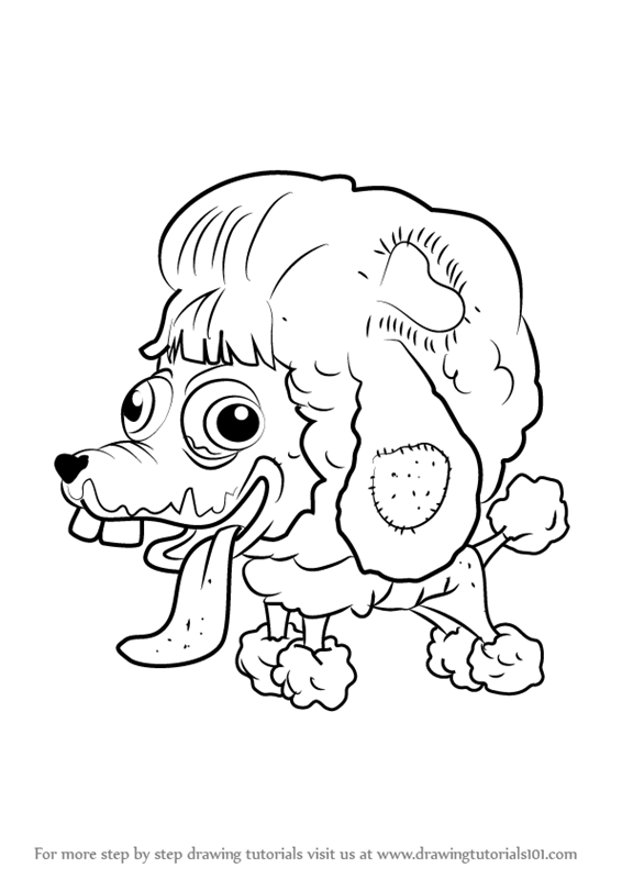 566x800 Learn How To Draw Poo Poodle From The Ugglys Pet Shop (The Ugglys