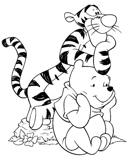 422x525 Tigger And Pooh Look At The Same Thing Color Me Tickled Pink