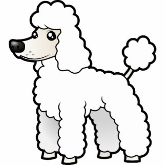 how to draw a poodle face