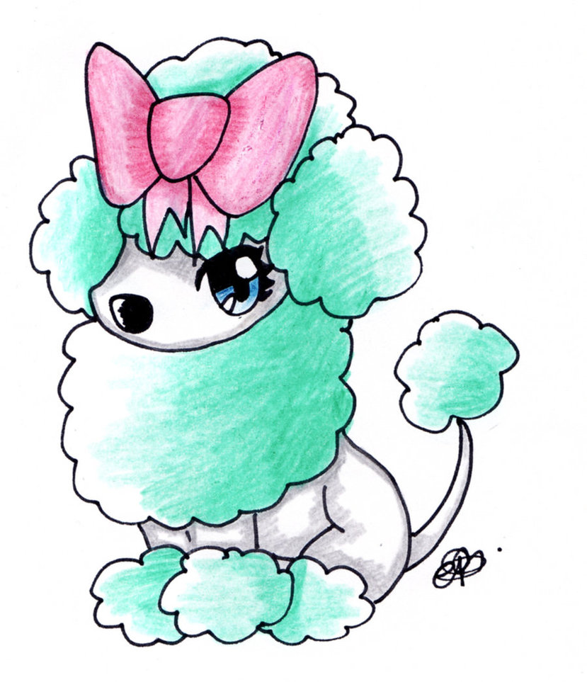 829x963 Chibi Minty Poodle By Crystaltheechidna