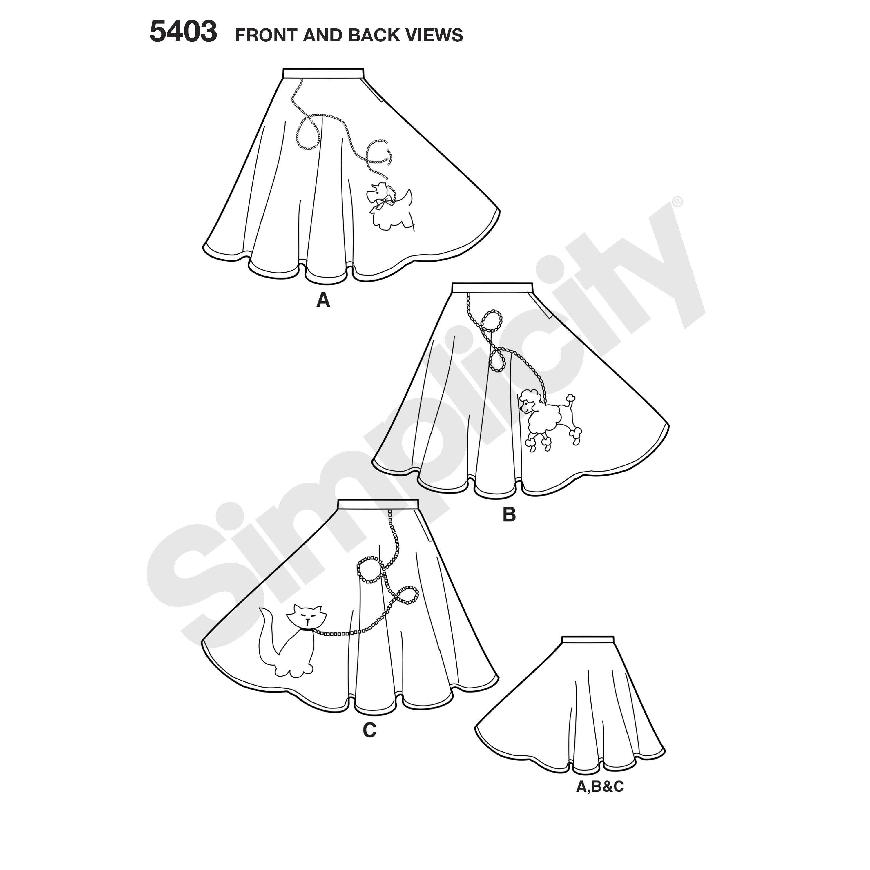 3000x3000 Pattern For Misses Costumes Simplicity